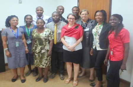 Picture of Deputy Director General, R4D, May-Guri Saethre (middle) with the new IARSAF executives.