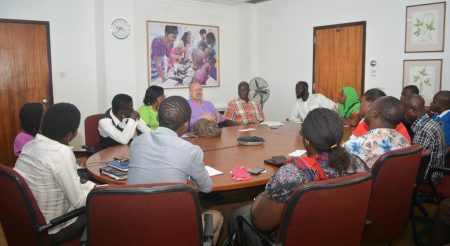 Picture of Representatives of NYCN during their meeting with IITA DDG (P4D). Photo by O.Adebayo, IITA.