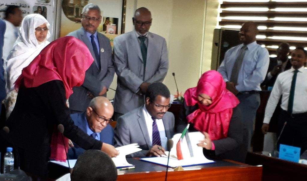 Picture of Signing of the partnership agreement between ENABLE Youth Sudan and the Savings and Social Development Bank.