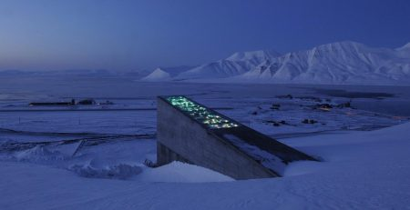 Picture of The Svalbard Seed Vault in Norway. Photo courtesy of The Crop Trust