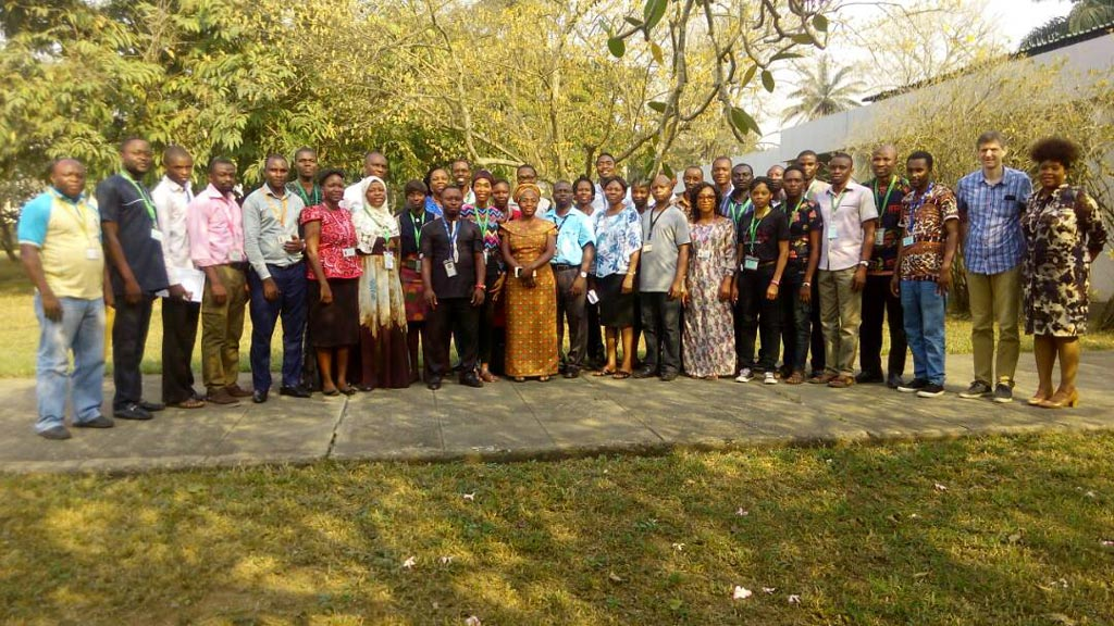 Picture of Participants and facilitators at the close of the 3-day data management training.