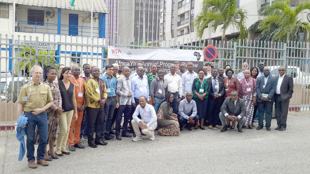 Picture of participants at the 4th AfricaYam project annual meeting in Abidjan