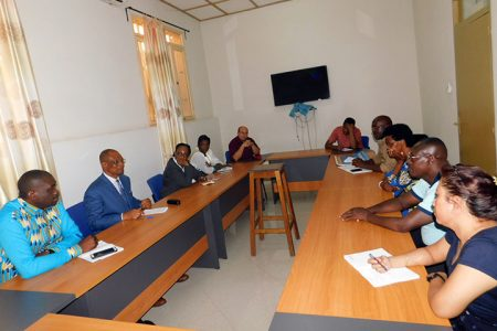 Dr Jonas Chianu (2nd from left) leading the dialogue with other stakeholders.