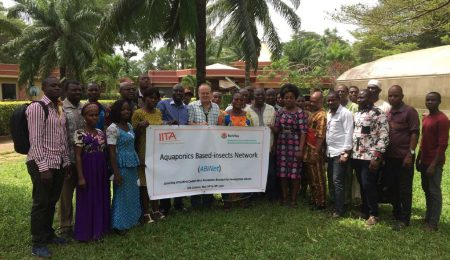 Group photo at the launch of West and Central Africa aquaponics research for development network