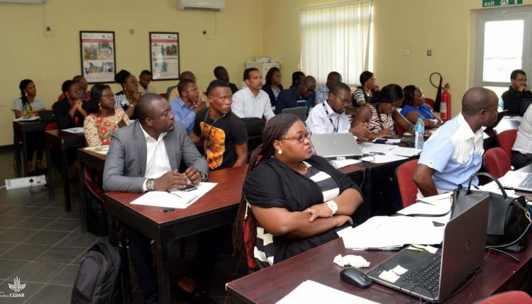 Picture of Training participants during one of the presentations