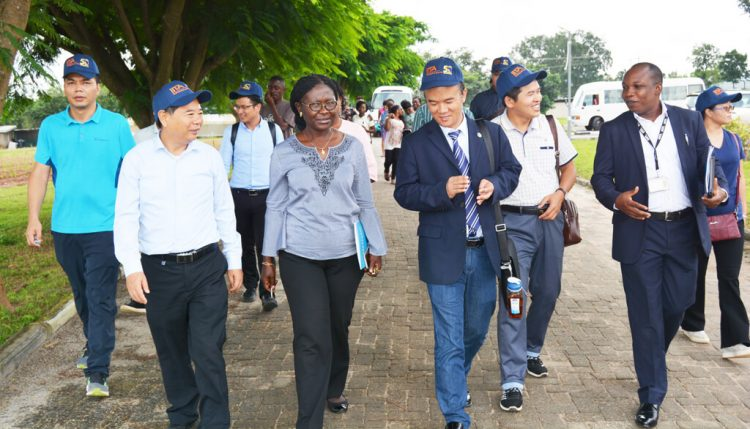 Picture of CATAS delegates on a guided tour around the IITA-Abuja Station