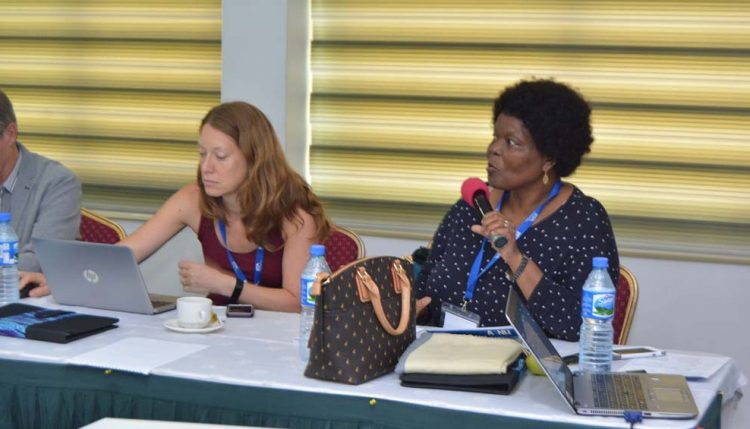 Picture of Dr Bussie Maziya-Dixon speaking at a recent Agriculture for Nutrition and Health (A4NH)
