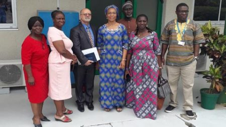 Picture of Kenton Dashiell, IITA DDG-P4D (3rd from left) with the Advisory Council members and AgResults staff