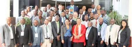 "Picture of participants at the FAW ""plan to action"" meeting"