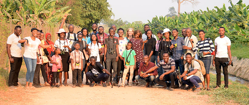 Members after bird watching at IITA.