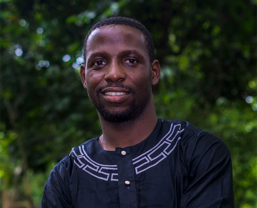 Researcher and IITA-CARE awardee, Adedotun Seyingbo.