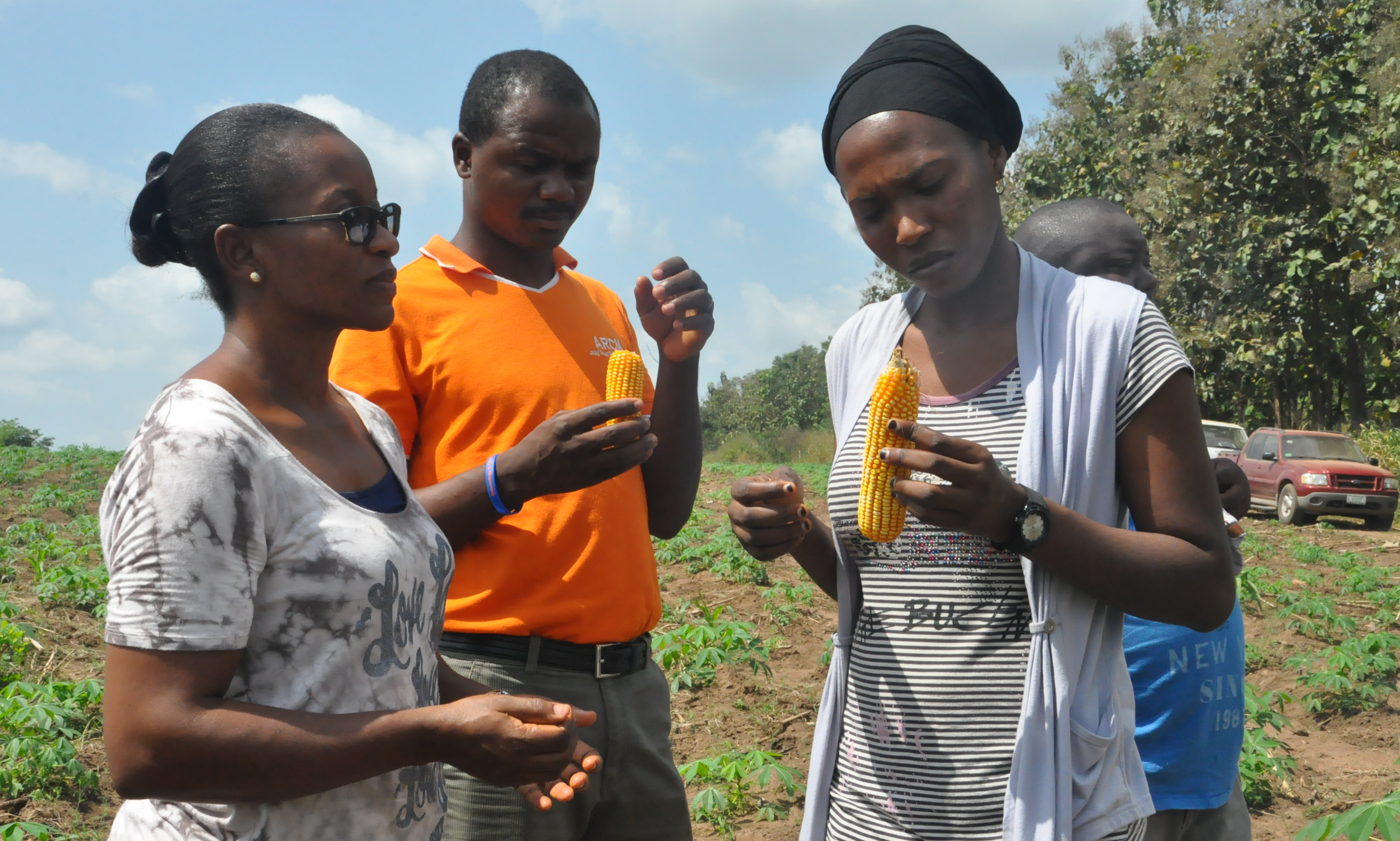 Picture of Youth enjoying aflatoxin-safe maize