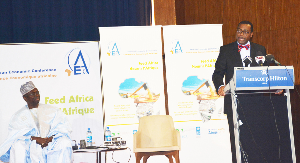 Picture of African Development Bank President Dr Akinwumi Adesina giving his opening remarks.