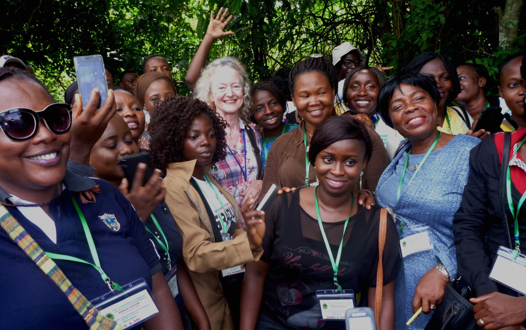Picture of Deni Bown with women foresters, CFA.